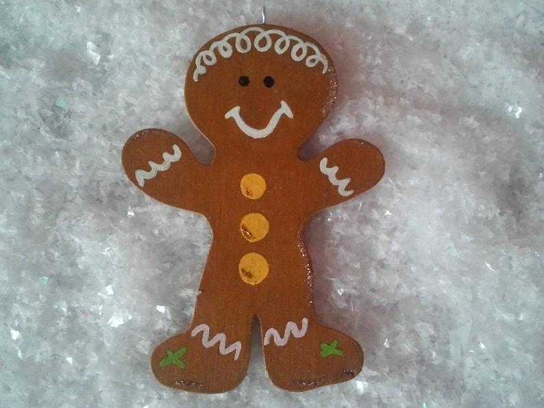 Wooden Christmas ornament gingerbread man