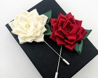Women/'s Clothing Corsage Men/'s Boutonniere Mother/'s Day Hat Pin Flower Felt Floral Brooch Lapel Purse Valentine Gift