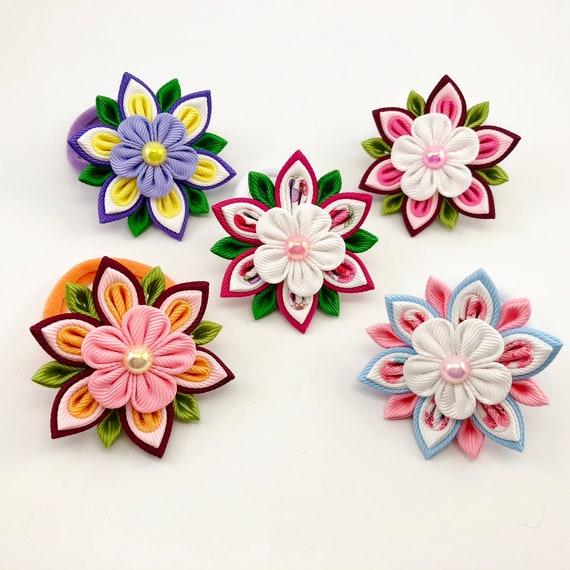 Flower Ponytail Holders Spring Flowers Toddler Hair Elastics  ded0574d45c
