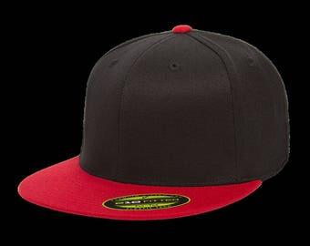 Blank Flexfit 6210/ 6210T/ Premium Fitted Cap Hat L/XL