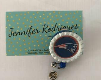 New England Patriots badge reel