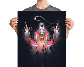 Full Metal Alchemist FMA Alphonse Brothers Nerdy Armor Automail Edwar Elric Roy Mustang Al Poster