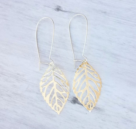 Rustic Earrings Leaves Earrings Leaf Fall Earrings Bronzed Bronze Jewelry Bronze Leaf Earrings Boho Earrings Bronze Dangle Earrings