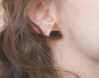 boucles d'oreilles puces triangle