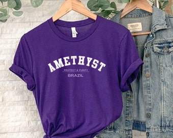 AMETHYST T-Shirt /  Crystals Shirt / Crystal Lovers Gift/ Metaphysical Gift / Birthday Gift  / Cute Graphic Tee / Cute Metaphysical TShirt
