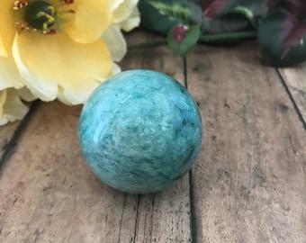 45 mm Amazonite Sphere, Crystal Sphere, Amazonite, Chakras, Metaphysical Gift, Crystal Grid, Reiki
