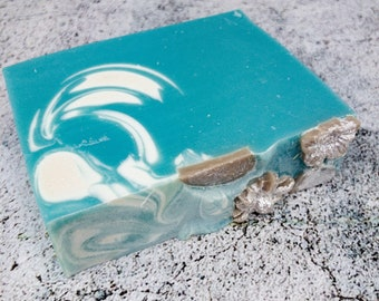 Spring Whisper Cold Process soap, Natural Soap infused with Tussah silk, Kaolin clay and Coconut milk, Mother's day gift