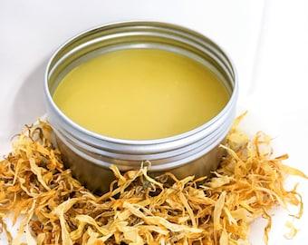 Calendula non petrolium jelly, All Natural Petroleum Free ointment, Healing Salve, Barrier Cream, baby ointment, skin balm coworker gift