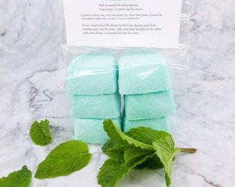 Eucalyptus Shower Steamers, Headache Relief Shower Fizzy, Self Care gift, Peppermint Shower bomb, Best Seller shower tablet