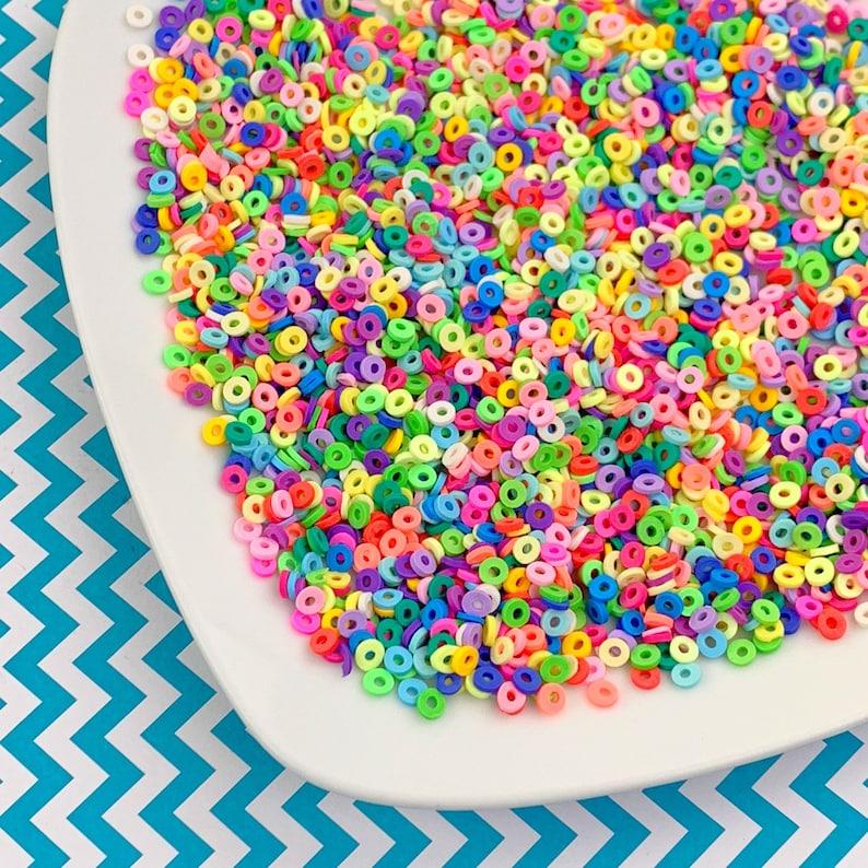 Fruit Loop Fimo Slices Slime DIY craft Cheap Bulk Sprinkles