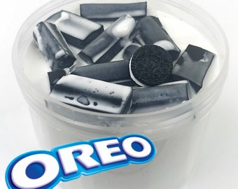 Oreo Milkshake Foam Chunk Slime Scented