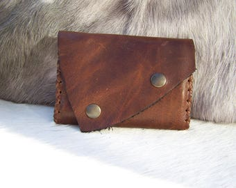 Wallet Leather Brown, with card holder, very practical and functional, for men or women