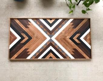 a17f56ad9b01 Reclaimed Wood Wall Art - Wood Wall Art- Reclaimed Wood - Wood Wall Decor-  Wood Art- Geometric Wood Wall Art - Wooden Wall Art