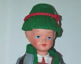 Vintage Boy Trachten Puppen doll