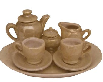 East Germany Luster Miniature Tea Set