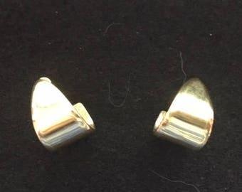Monet Gold Tone Half Hoop Earrings, Chunky
