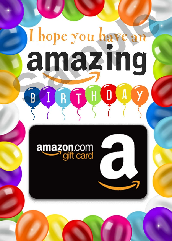 Birthday Gift Card Holder PRINTABLE Amazing