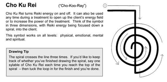 Reiki Symbols Cards Etsy
