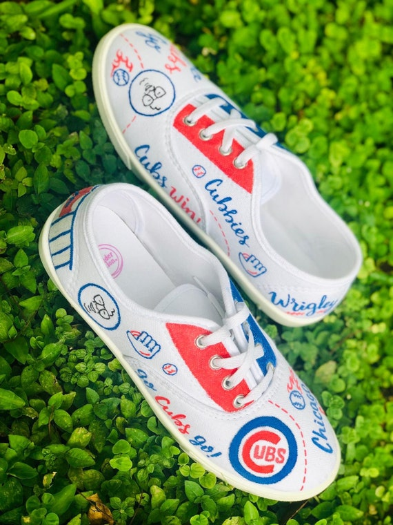 Chicago Cubs Hand Painted Canvas Shoes