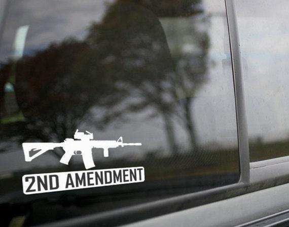 White American Flag Bullet Gun Rifle NRA Vinyl Decal Sticker New Free Shipping