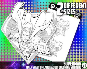 Superman Sticker Etsy