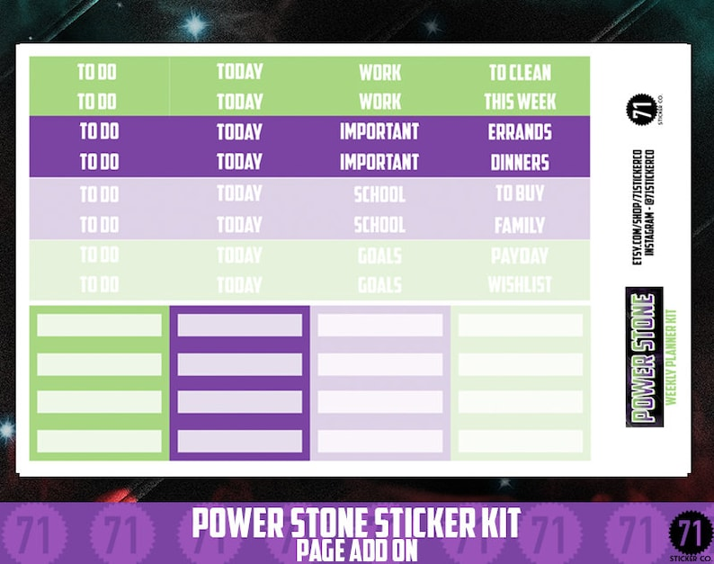 INFINITY STONE DELUXE Kit Single Page Add Ons: Headers