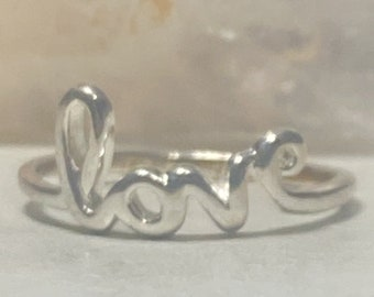 Let Your Life Speaks ring word band sterling silver women men size 8.50