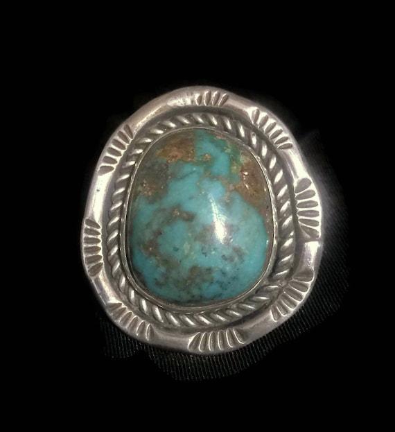 Vintage Turquoise Ring Size 9 Minus Southwest Wome