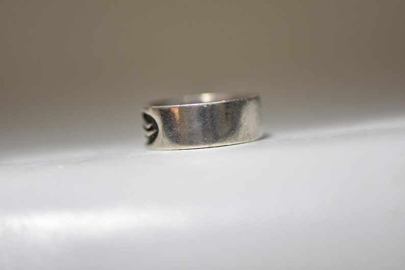 Flames Ring Thumb Band Sterling Silver Men Women Size 11.50