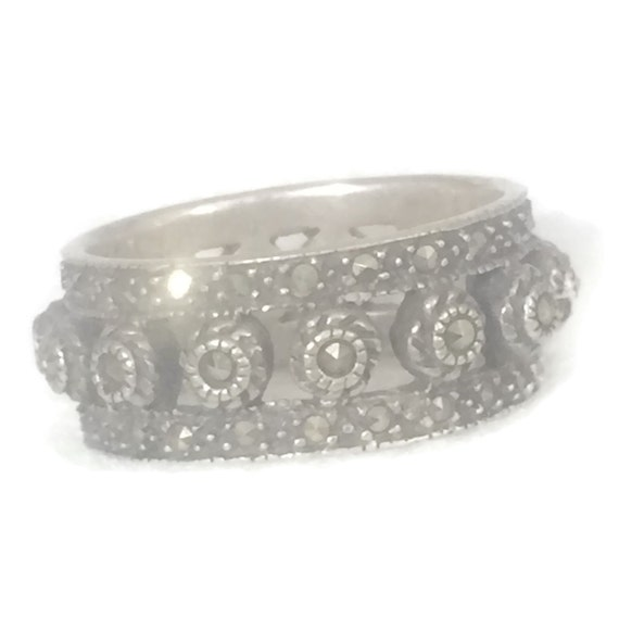 Marcasite Band Size 9 Minus Marcasite Ring Size 9