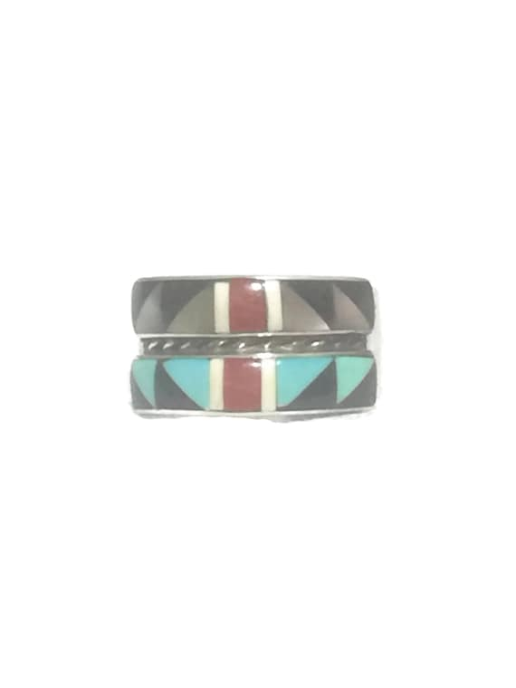 Vintage Sterling Silver Ring Woman Zuni Ring Size