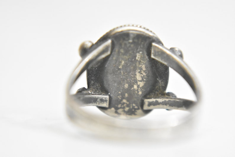 Navajo ring turquoise sterling silver women girls  Size 6