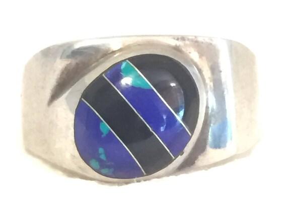 Vintage Sterling Silver Ring Men Mexican Ring Men