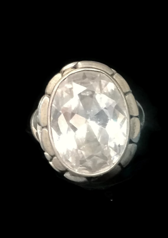 Vintage Crystal Ring Size 9 Plus Crystal Band Size