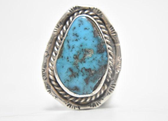 Women Navajo Ring Size 9 Plus Turquoise Ring Navaj
