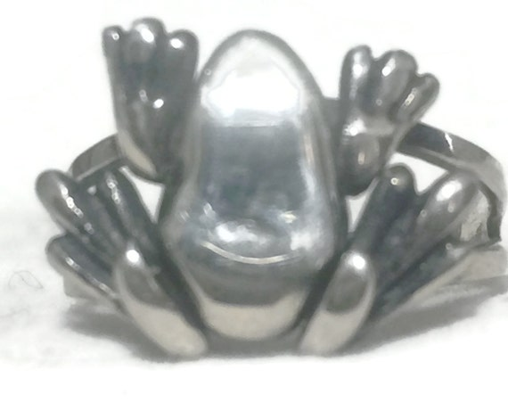 Vintage Frog Band Size 8 Plus Vintage Frog Ring Size 8 ...