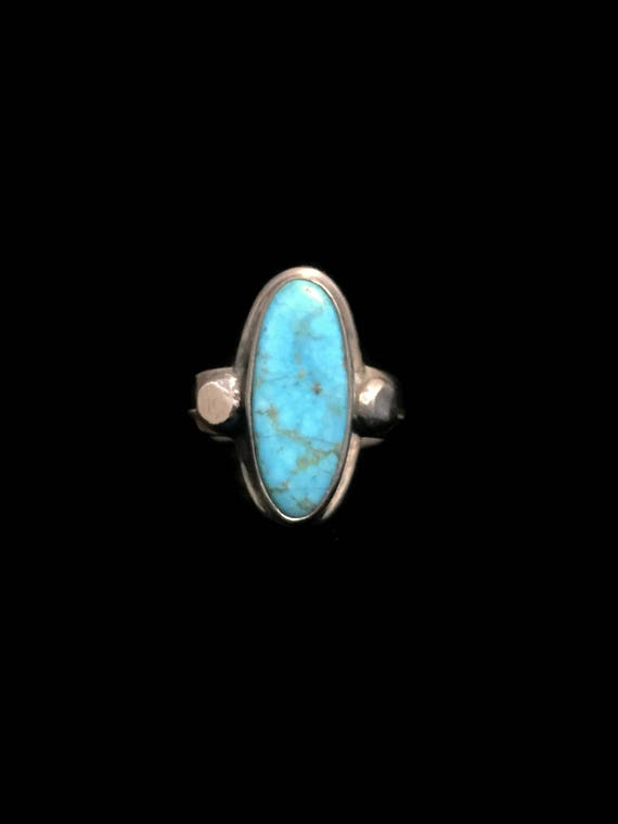 Blue Turquoise Ring Long Turquoise Ring Long Ring