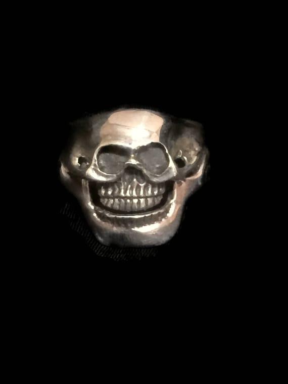 Men Skull Ring Size 12 Biker Skull Ring Biker Ring