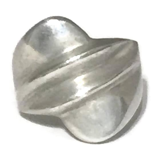 Vintage Chunky Ring Size 9 Minus Silver Mexican Ri