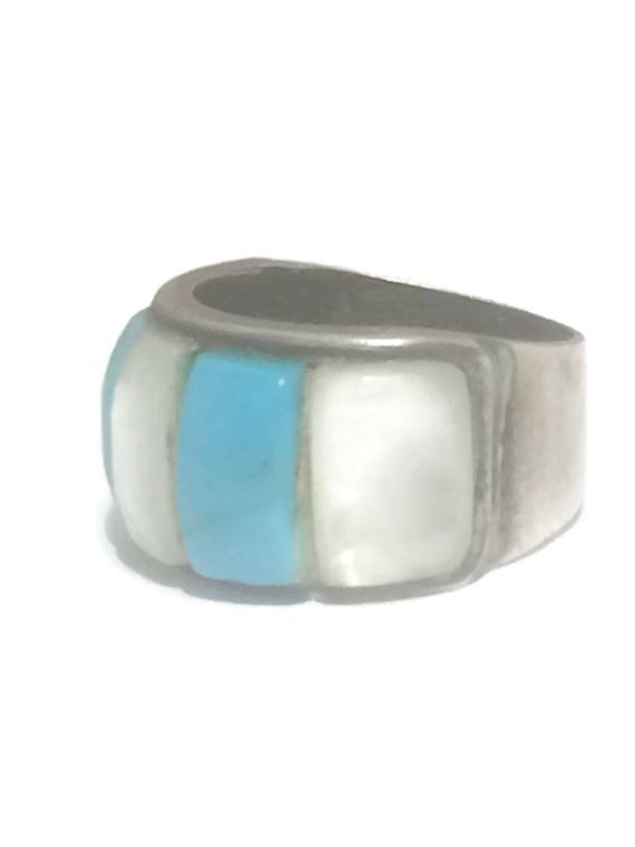 Vintage Sterling Silver Ring Turquoise Ring Turquo