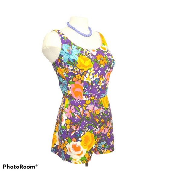 50's Vintage Cole of California Womens Purple Flor