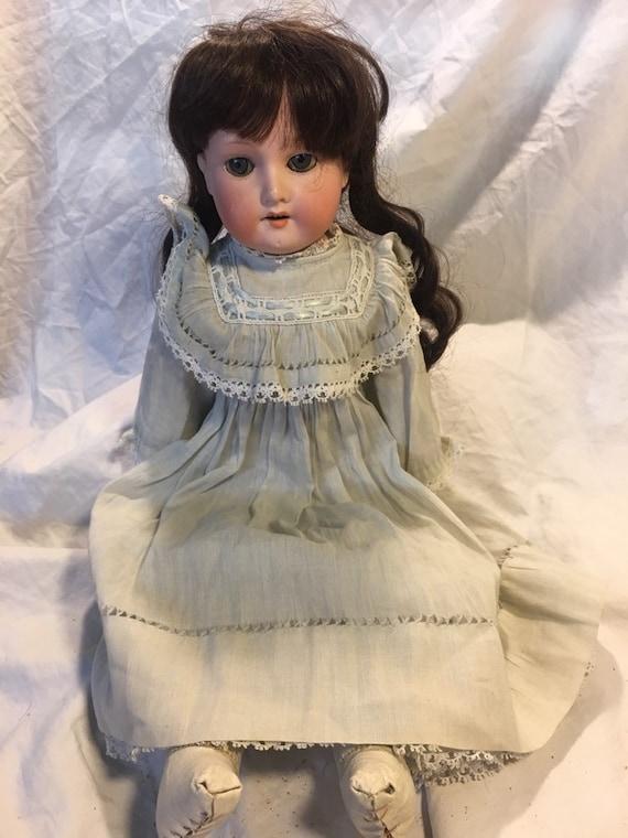 Vintage Female Doll face Head With Sleepy Eyes