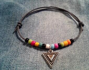 Waxed cotton bracelet multicolor