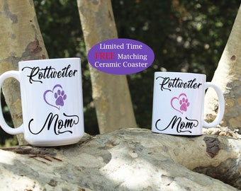 Rottweiler mom mug, Rottweiler dad mug, Rottweiler dog mug, Rottweiler mug, Rottweiler dog breed, Rottweiler, lover, gift, Dog mug, Dog gift