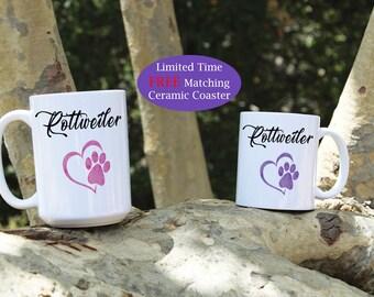 Rottweiler coffee mug, Rottweiler dog mug, Rottweiler mug, Coffee mug, Rottweiler dog breed, Rottweiler dogs, lover, gift, Dog mug, Dog gift