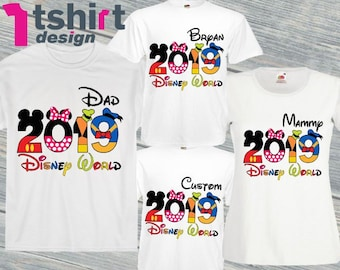 800c4401d Disney World 2019 family shirts Personalized 2019 Disney t shirts Disney tee  Here we come Disney squad characters shirts Disney World group