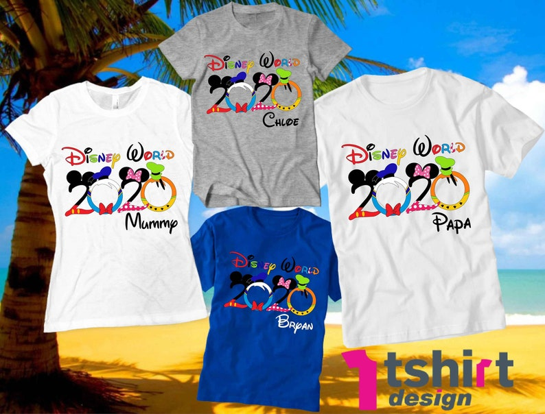 Disney World Family shirts 2020 Disney World Vacation Family tshirts Disney font Custom shirts Disney vacation Personalized Disney squad