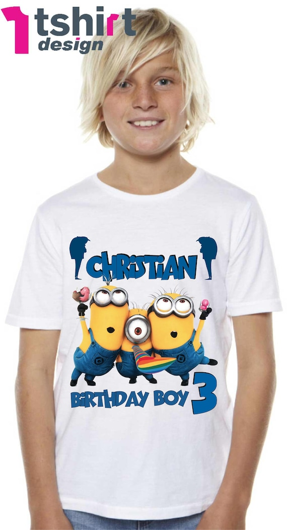 Personalized Minion Birthday T-Shirt