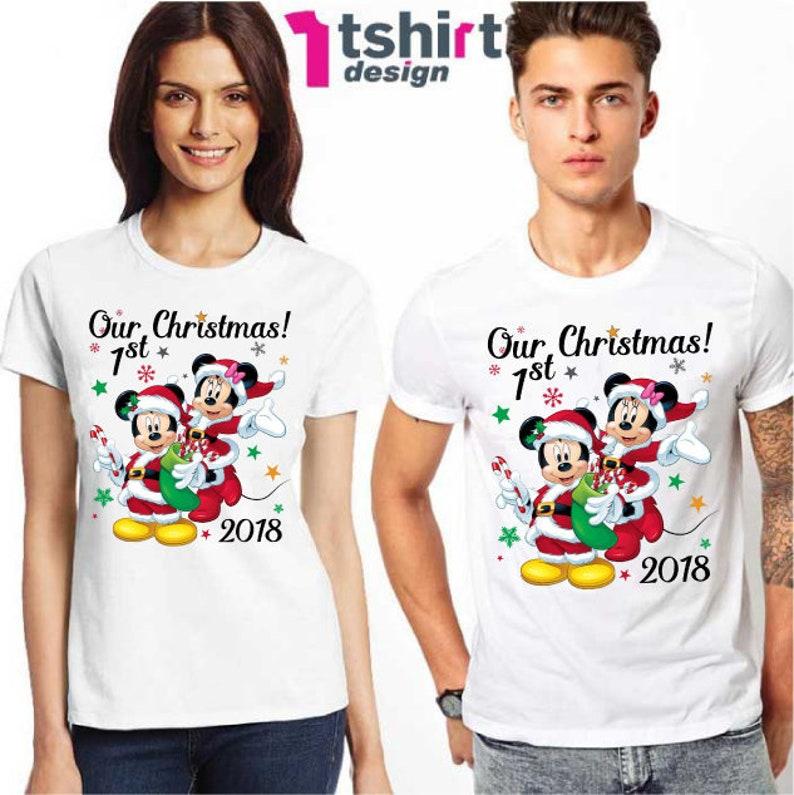 4b54bf48978e Our First Christmas Disney Matching Shirts Christmas disney