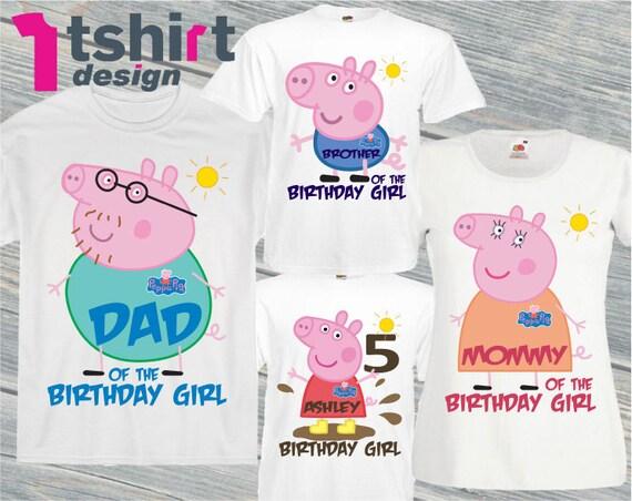 Peppa Pig Birthday Shirt Custom Personalized